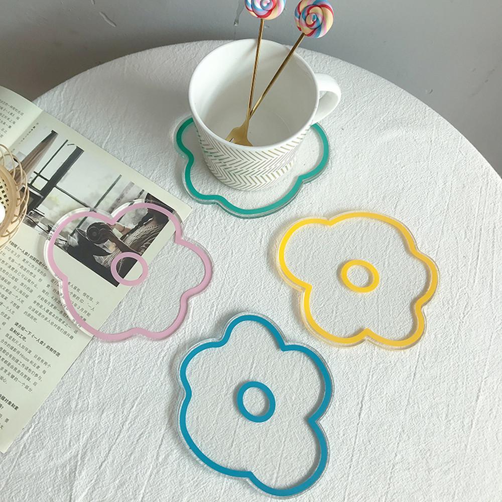 Flower Shaped Acrylic Coasters