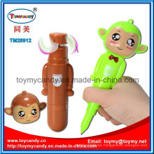 14cm Monekey Ball Pen Handheld Fan Toy with 3 Colors