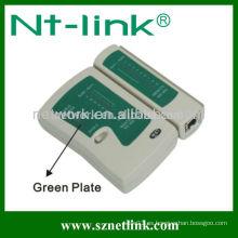 Comprobador de cables RJ11 / RJ12 / RJ45 con placa verde NT-T036