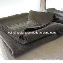 Gesponnene Wolle gemischt Armee /Military Decke (NMQ-AB007)