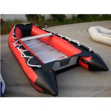 CE горячей продажи 420 см 8 человек резиновая надувная килеватая лодка