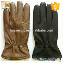 Winter Full Finger Mens Wearing Deerskin Driving Leather Gloves