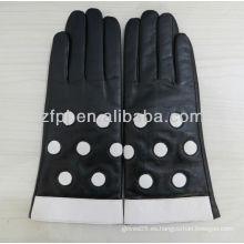 Guantes de cuero de encaje guantes de encaje