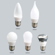 3W Ceramic Candle LED Bulbs With ROHS