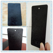 Silver Grain on Black Orange-Peel Powder Coating with Anti-Corrosive Property