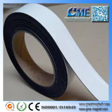 Tiras magnéticas blancas Láminas de imanes con adhesivo