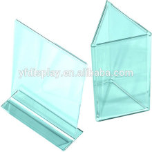 clear acrylic restaurant drink menu card holder