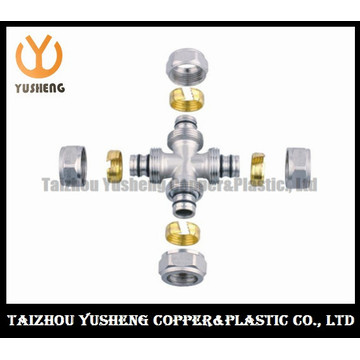 Male Forged Brass Compression Cross Pipe Fitting (YS3301)