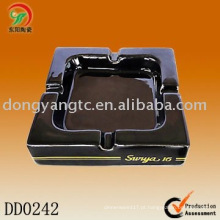 Cinzeiros de cerâmica pretos quadrados para venda