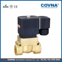 Latón de alta presión agua aceite gas de aire 2 vías válvula solenoide 220v