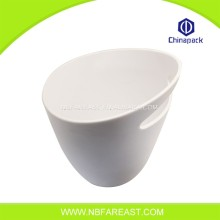 Wholesale white plastic ice wine bucket