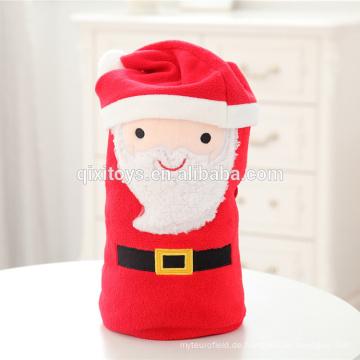 Weihnachts-Plüsch-Decke mit niedlichen Cartoon-Design