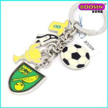 Porte-clés en métal de charmes de souvenir de coupe du monde de mode fait sur commande promotionnelle