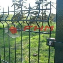 Green Color 3D Vinyl Coated Welded Fence