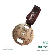 Medalla personalizada de desafío de metal con cinta de impresión
