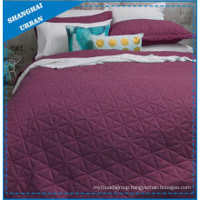 Berry Solid Polyester Ultrasonic Coverlet Set