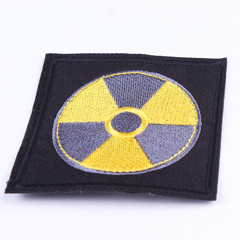Black Patch Decoration Embroidery