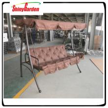 3 Sitz Garten Stahl Metall Schaukel Bett mit Baldachin