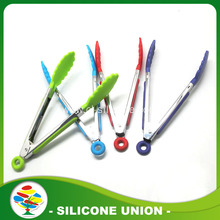 Fancy Design Steel Silicone Kitchen Tongs