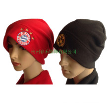 New Reversible Polar Fleece Beanie Pattern Reversible Sport Hat Factory