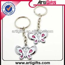 New fashion butterfly shape nickel free keychain