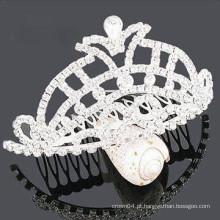 Atacado cristal de cabelo acessórios tiara plástico barrette