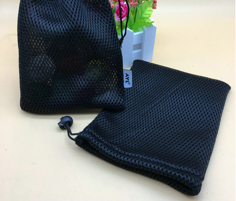 Black Polyester Mesh Bag