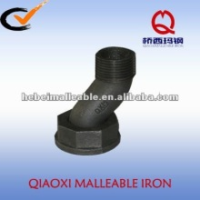black malleable iron pipe fitting gas pipeline fitting