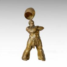 Восточная статуя Деревня Акробатизм Человек Бронзовая скульптура Tple-014