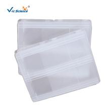 Caixa de armazenamento de plástico para lâmina de microscópio