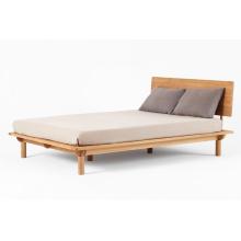Meubles de chambre à coucher à dos plat en bois massif