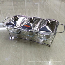 Aço inoxidável de alta qualidade isolado Buffet Chaffing prato aquecedor de alimentos