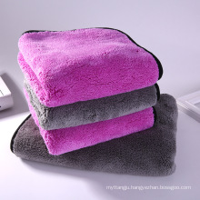 1000GSM Super Soft Thick Plush Double Side Sewing Coral Fleece Towel