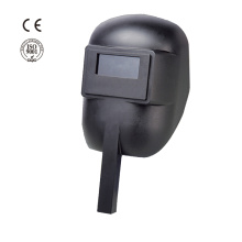Industrial safety plastic hand held welding helmet