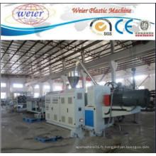 Ligne de production de machine à double tuyau en PVC Ligne de machine d'extrusion de tuyau de drainage d'eau en PVC Ligne de fabrication de tuyau en PVC