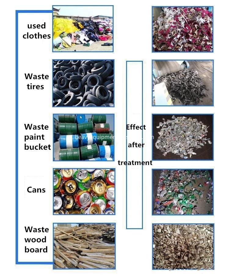 Recycling Machine Plant Tire Shredder