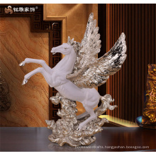 hotel office decoration business gift white horse with wings fairy figures for home hotel office bar decoration at best rate