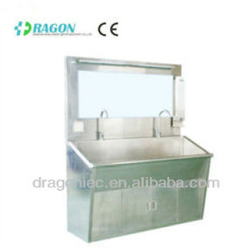 DW-HE102 Stainless steel scrub sink TWO-station medical sink