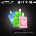 Plastic standup center spout pouch with cap/food bag with screw cap