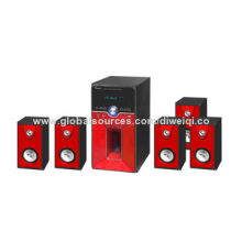 5.1 Computer Speakers with USB/SD/FM/RC for Home, 6.5 + 3*5 + 1*5-inch Drive Unit