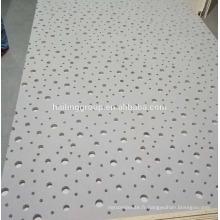 Panneau de gypse perforé acoustique pour les carreaux de plafond