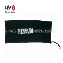 Bolso de sunglass del paquete de la cuerda de tirón de la microfibra de la pantalla de seda