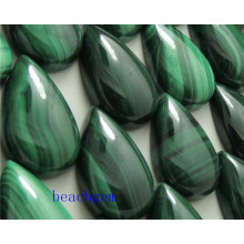 Natural Malachite Pear Cabochon for Jewelry Setting