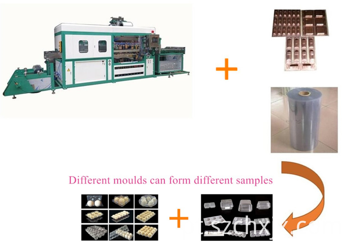 Full-automation plastic vacuum forming machine working principles