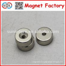pot de forme ronde forte neodymium magnet n52