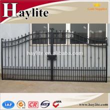 ворота раздвижные кованые железные ворота haylite для продажи