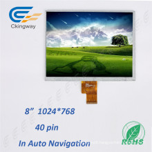 """8"""" Resolution 1024 (RGB) X768 LCD Display Touch Screen"""
