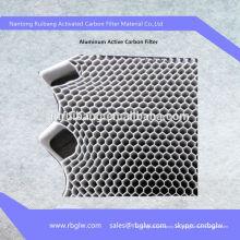 Filtro de carbón activo del fotocatalizador de base de aluminio