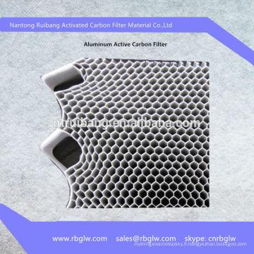 Filtre à charbon actif à base de photocatalyseur en aluminium