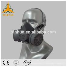 máscara de gas de seguridad doble filtro